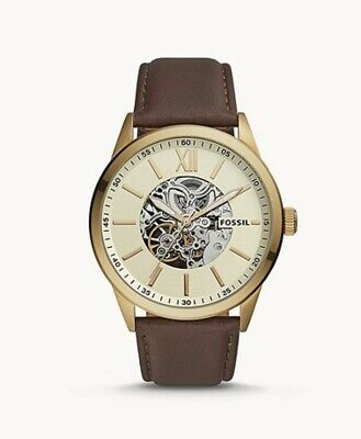48mm Flynn Automatic Brown Leather Watch