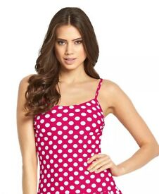 Pink Polka Dot Tankini Top & Bottoms (UK 10) BNWT