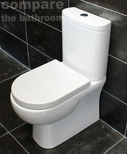 Rak Tonique Compact Comfort Height Toilet Disabled WC + 25 Year Guarantee