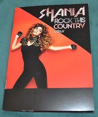 Shania Twain Rock This Country Tour RARE VIP Photo Book/Program +now w/Free Gift