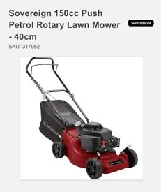 Sovereign 150cc Petrol lawn mower (new)