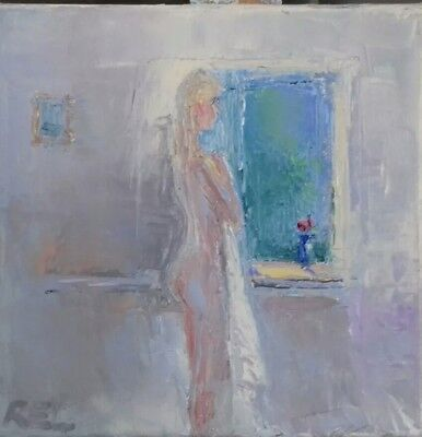 nude -oil painting-original art -female-figure