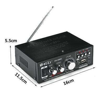 HIFI Stereo Audio Amplifier 360W Digital Verstärker Tuner Radio SD USB FM 12V gebraucht kaufen  Erlenbach