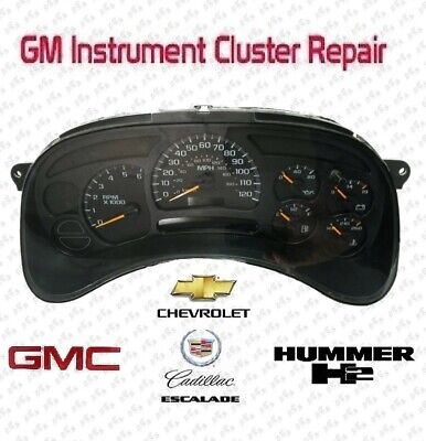Repair Service 03-06 GM Chevy Silverado Instrument Cluster Gauge Stepper -