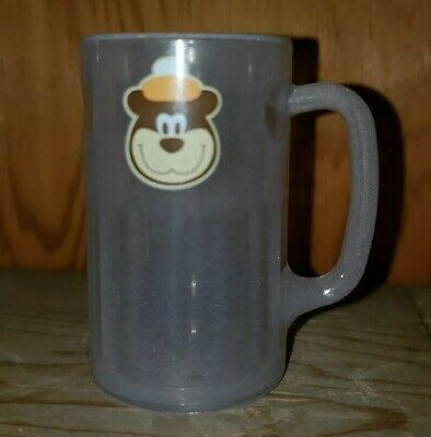 A & W Root Beer Plastic Mug Clear Bear Logo