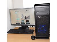 Core i7 Gaming PC Windows 10 8GB RAM USB 3.0 640GB HDD NVIDIA GTX 750Ti Graphics Complete