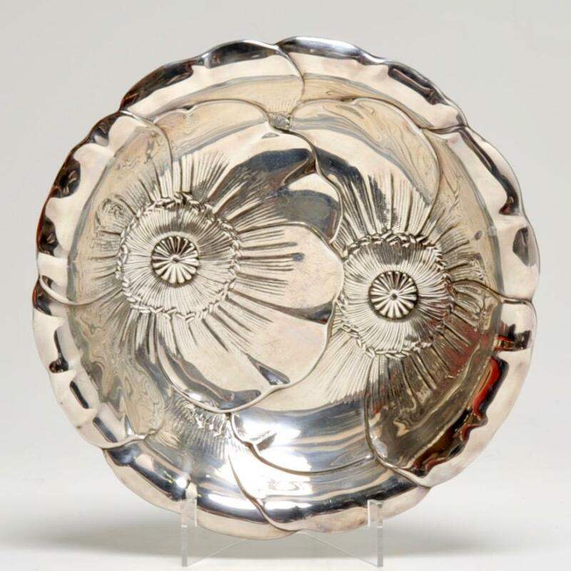 """VINTAGE WALLACE STERLING SILVER """"POPPY"""" ART DECO BOWL 10"""""""