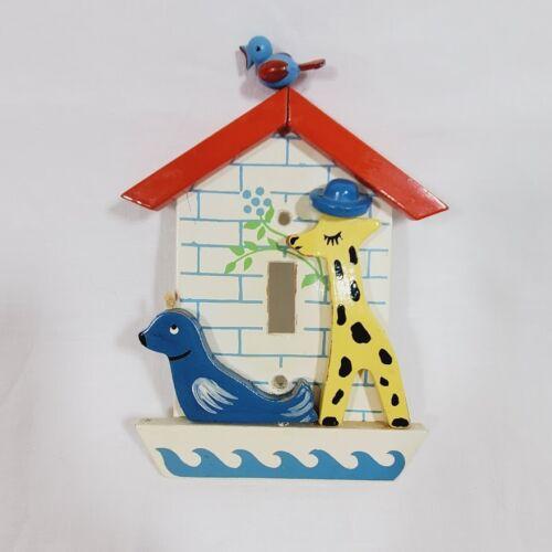 Vintage IRMI Light Switch Cover Baby Kid Nursery Bedroom Seal Giraffe Bird