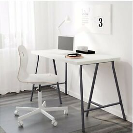 Ikea trestle desk 2 Available