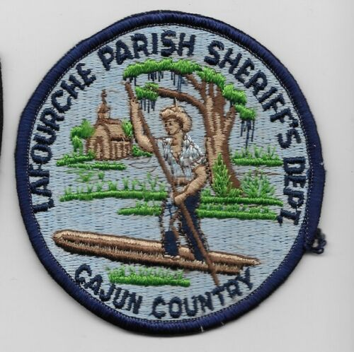 Vintage Lafourche Parish Sheriff State Louisiana LA Cajun patch RARE OLD