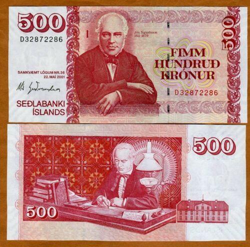 Iceland, 500 Kronur, 22-5-2001, P-58, UNC > New Sign. (2013)