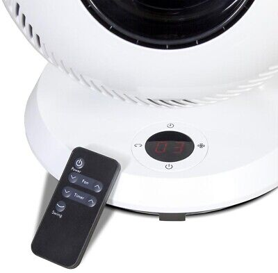 Oscillating Fan 12-Speed Remote and Dust-Free Bladeless
