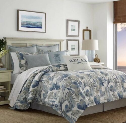 Tommy Bahama 221192 Raw Coast Comforter Set,Blue,Full/Queen