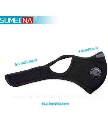 Safety inpublic-Neck Strap Face Mask with D ventsFilter- outdoor, working, gyms,
