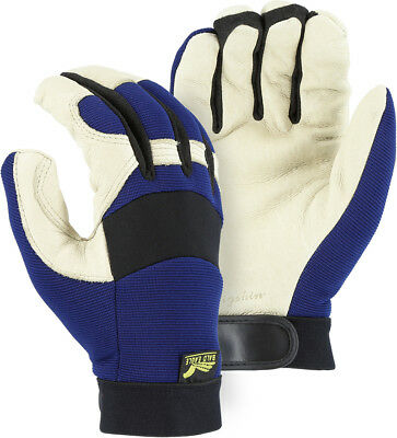 Bald Eagle Mechanics Style Winter Insulated Pigskin Gloves Leather Work 2152t