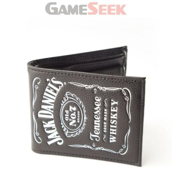 JACK DANIELS BIFOLD CLASSIC LEATHER WALLET WITH CLASSIC EMBOSSED WHITE LOGO