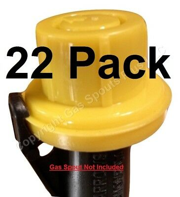 22-pk Blitz Replacement Yellow Spout Cap Top Fuel Gas Can 900302 900092 900094