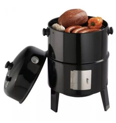 Grillpro Charcoal Smoker And Grill 18 New In Box Vertical Smoker- Sealed