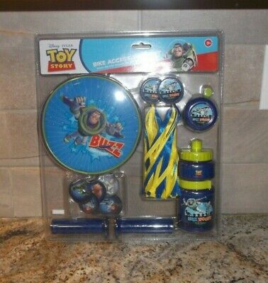 Disney Toy Story Bike Accessories Set Handle bar Grips, streamers, Bell & More!