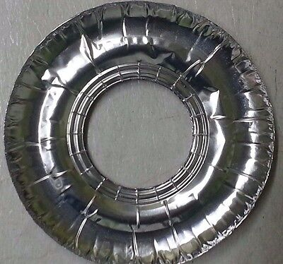 40 pcs Aluminum Foil Round Gas Burner Disposable Bib Liners Stove Covers