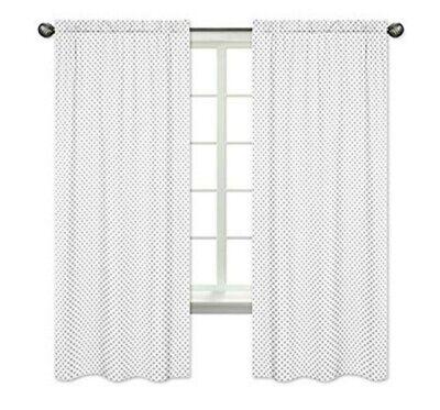 Sweet Jojo Designs Window Panels - Grey Polka Dot- 2pk - Brand New  Dots Grey Design