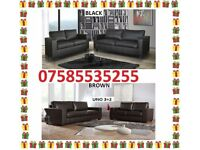 ITALIAN LEATHER SOFA SUITE GUARANTEED WITHIN 1 WEEK DELIVERY