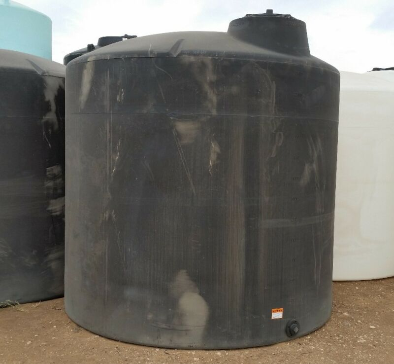 3000 Gallon Poly Water ONLY Storage Tank Tanks 95X107 Norwesco
