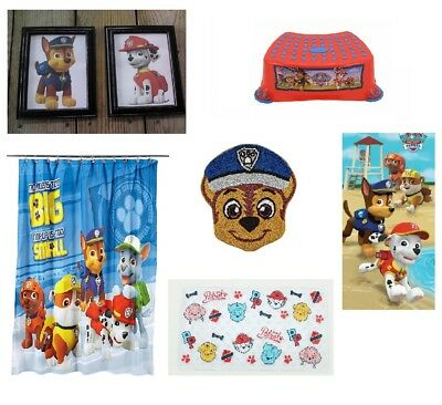 Paw Patrol Bathroom Accessories Shower Curtain Towels Stool Mat Rug Pictures - Paw Patrol Accessories