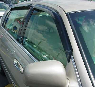 Tape-On Wind Deflectors: 1998-2010 Lincoln Town Car