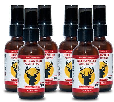 Deer Antler Velvet Extract - Liquid Testosteron Booster -...