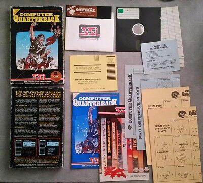 Computer Quarterback   Commodore 64 C64 Game Disk   Ssi