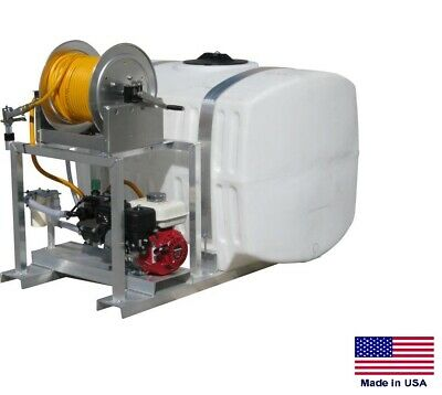 Sprayer Commercial - Skid Mounted - 9.5 Gpm - 580 Psi - 200 Gallon Tank 38mhr