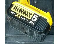 Dewalt 5amp battery as new