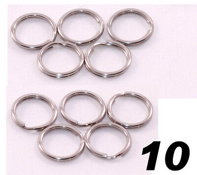 "Stainless Steel Key Rings 1/2"" (12mm) Split Ring, Wholesale LOT 10"
