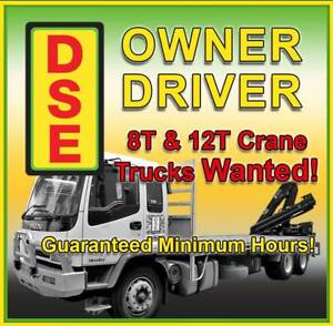 8T to 12T Crane Truck -Owner Driver