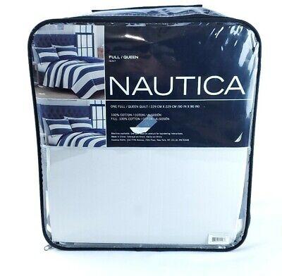 Nautica Navy Stripe Quilt