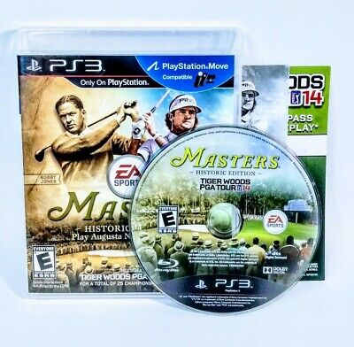 Tiger Woods PGA Tour 14 Masters Historic Edition Sony PlayStation 3 PS3 Complete