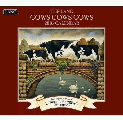 Lang Cows Cows Cows 2016 Wall Calendar by Lowell Herrero January 2016 to - Cow Calendar