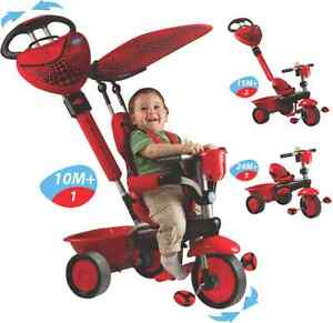 NEW! Smart Trike Zoo LADYBUG 3 in 1 Recliner ~ Tricycle Boys Girls Kids Toddler