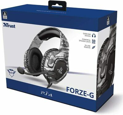 Auriculares GXT 488 Forze Gris Camuflaje PS4 Headset Gaming NUEVO licencia PS4