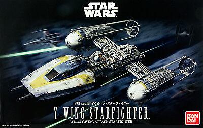 Bandai 1:72 Star Wars Y-Wing Starfighter Plastic Model Kit USA Seller