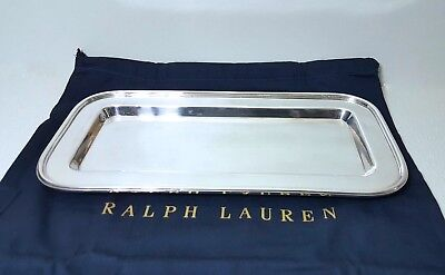 Ralph Lauren Home COLLECTION  DURBAN  SILVER PLATED BRASS SERVING TRAY (SMALL)
