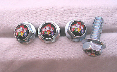 DEVO  License Plates Screws, Devo Album Cover Logo Plate Screws, Devo