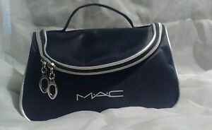 MAC Makeup Cosmetics Bag 8.5 x 5.5 x 3.75, Waterproof,  Case Mirror