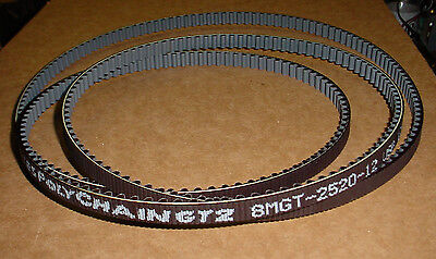 New Gates Polychain Gt2 8mgt-2520-12 Belt 8mgt2520 Pulley Cog Tooth