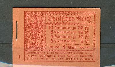 Deutsches Reich Markenheftchen 13 A postfrisch (B01363)