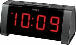 Timex Jumbo Display AM/FM Clock Radio T235BY Digital Tuner MP3 Line-In AUX NIB