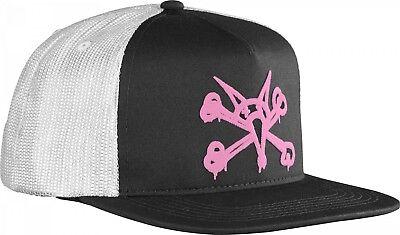 853bf57436737 Powell Peralta PUFF VATO RAT BONES Skateboard Trucker Hat BLACK WHITE PINK