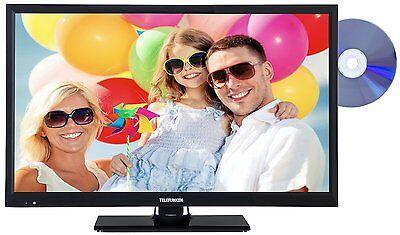 Telefunken L24H180I3D LED Fernseher mit DVD 24 Zoll 61cm TV HD DVB-T/C/S2 HDMI