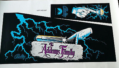 ADDAMS FAMILY Screen Printed Cabinet Art Set - PERFECT!